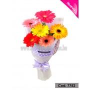 Bouquet Colores Vibrantes 6 Gerberas (Cod.7752)