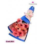 Bouquet Gerberas Pink (Cod.203)