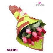 Bouquet Rojo Fucsia (Cod.211)