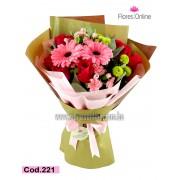 Bouquet Mix Rosa y Gerbera (Cod.221)