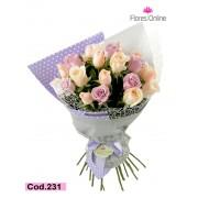 Bouquet Rosas Tonos Pastel (Cod.231)