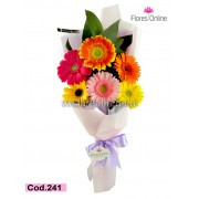Bouquet Colorido 6 Gerberas (Cod.241)