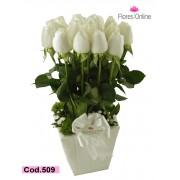 Condolencia Rosas Blancas (Cod.509)