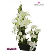 Jardinera flores Blancas (Cod.510)