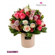 50 Rosas Tonos Pasteles (Cod.0861)