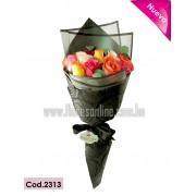 Bouquet Arcoiris 18 Rosas (Cod.2308)